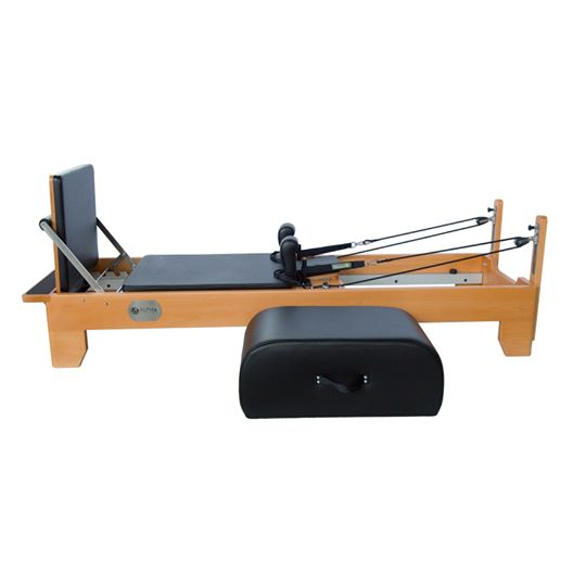 pilates reformer with curved sitting box