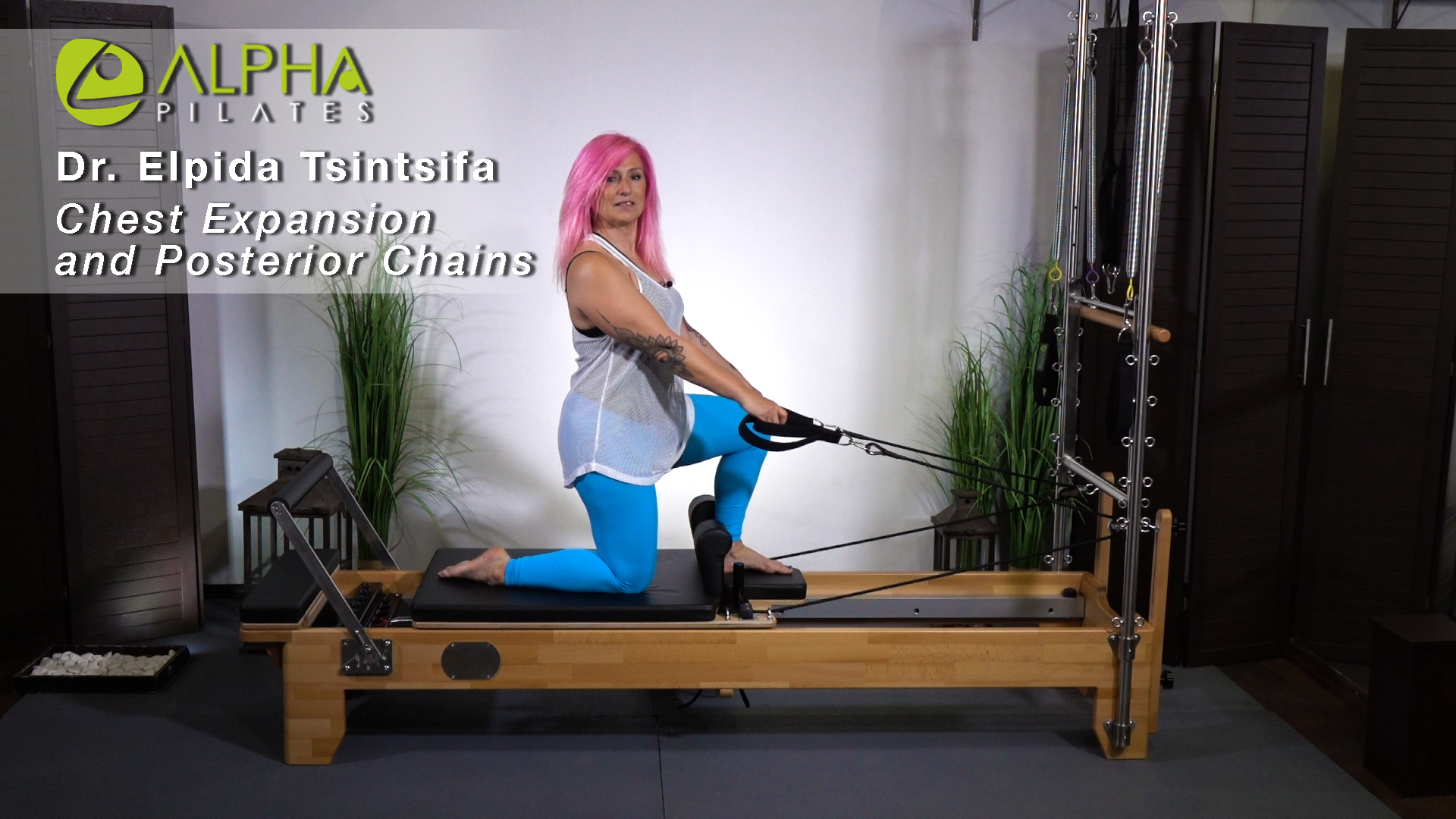 Reformer tips with Elpida Tsintsifa and Alpha PilatesReformer Chest expansion
